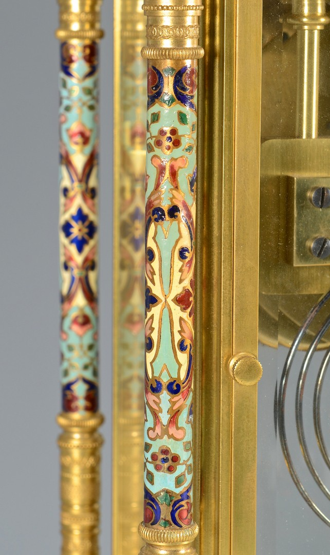 Lot 260: French Gilt and Enameled Clock