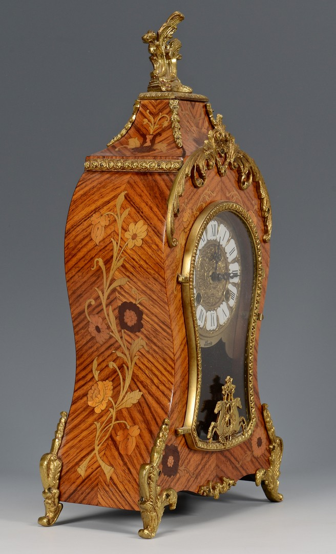 Lot 261: Italian Marquetry Clock & Shelf