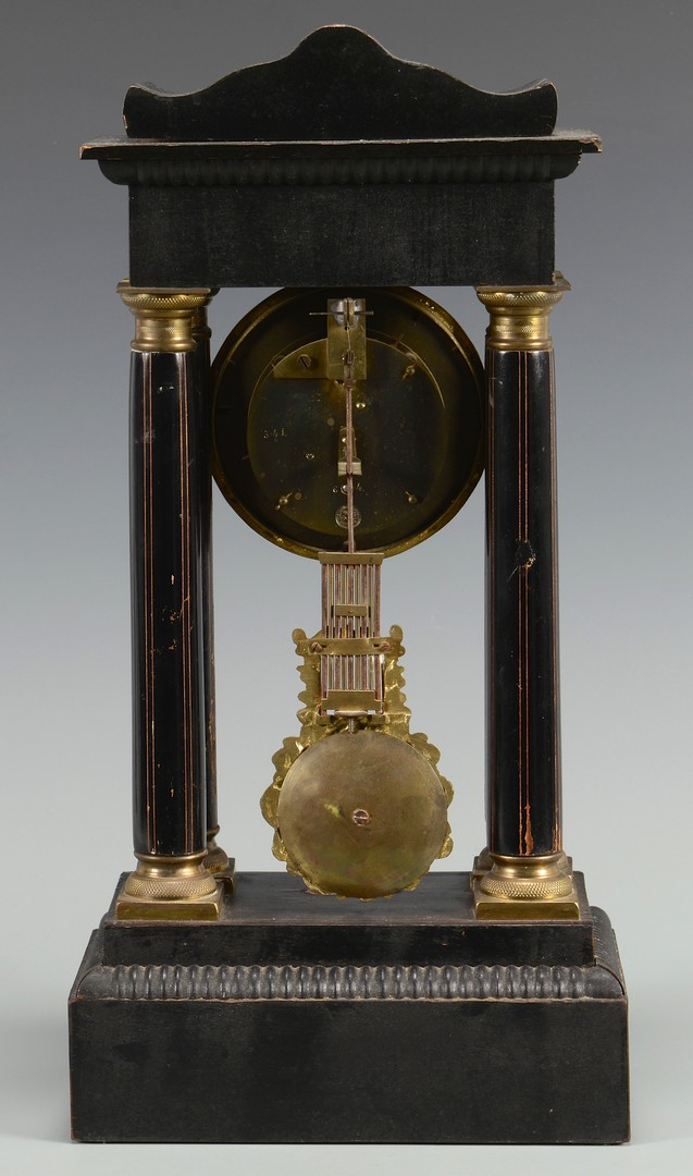 Lot 262: French Empire Portico Clock