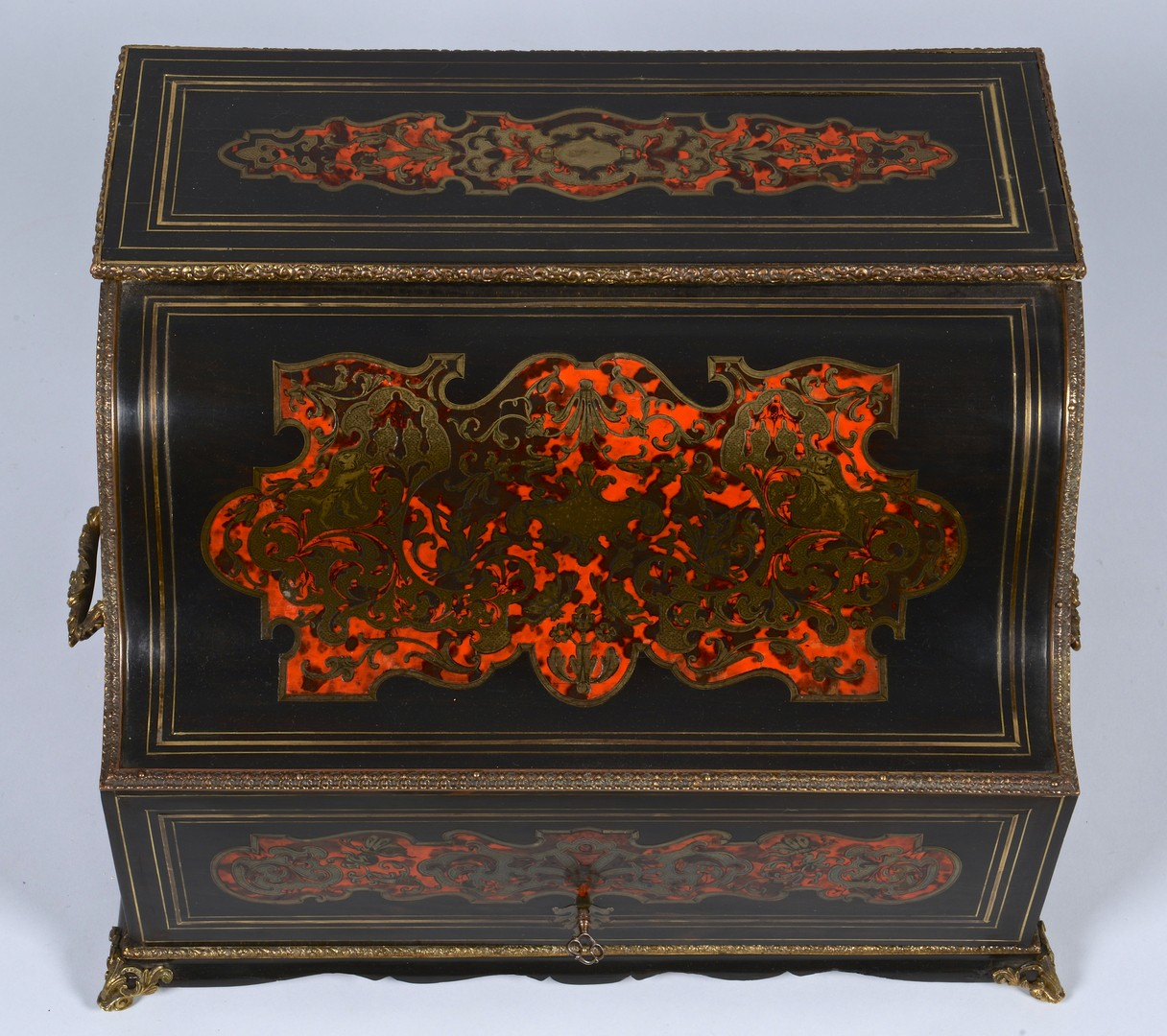 Lot 267: French Napoleon III Boulle Tantalus Set