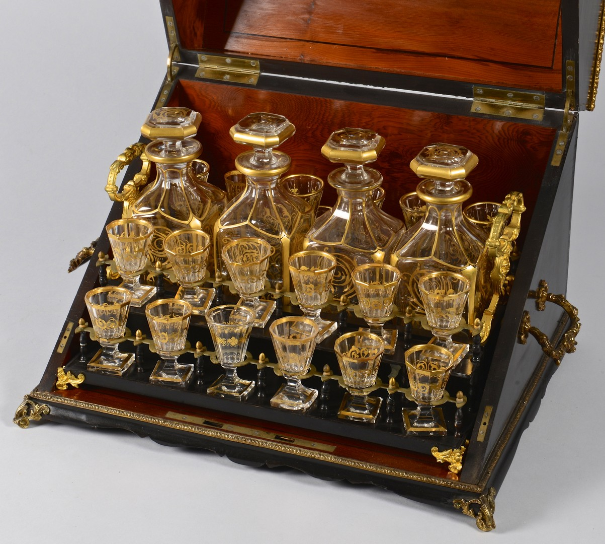 Lot 267: French Napoleon III Boulle Tantalus Set