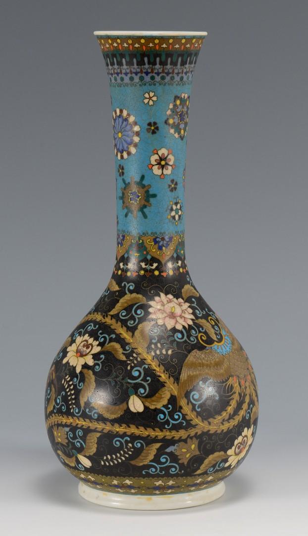 Lot 26: Chinese Porcelain Vase w/ Inlaid Enamel