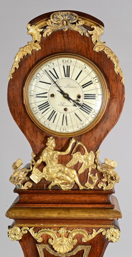 Lot 271: French Rococo Tall Case Clock w/ Ormolu Mounts