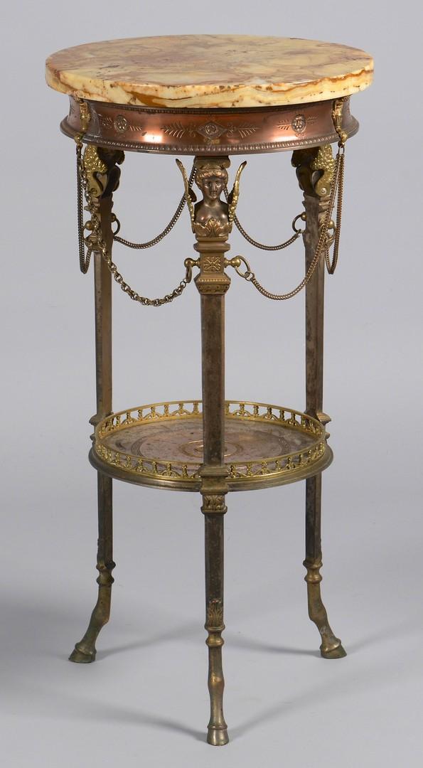 Lot 272: Neoclassical Table w/ caryatid legs