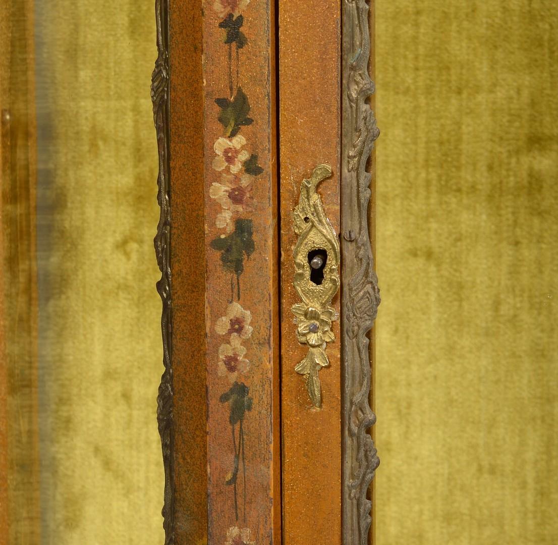 Lot 273: Vitrine w/ Painted Florals & Ormolu Mounts