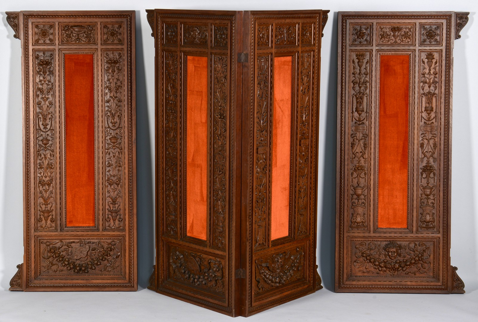 Lot 275: 4 European Wooden Carved Panels