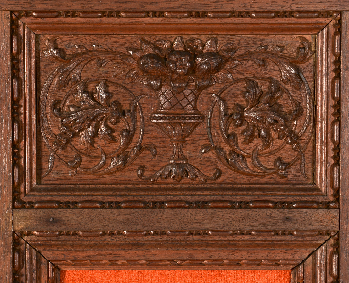 Lot european wooden carved panels