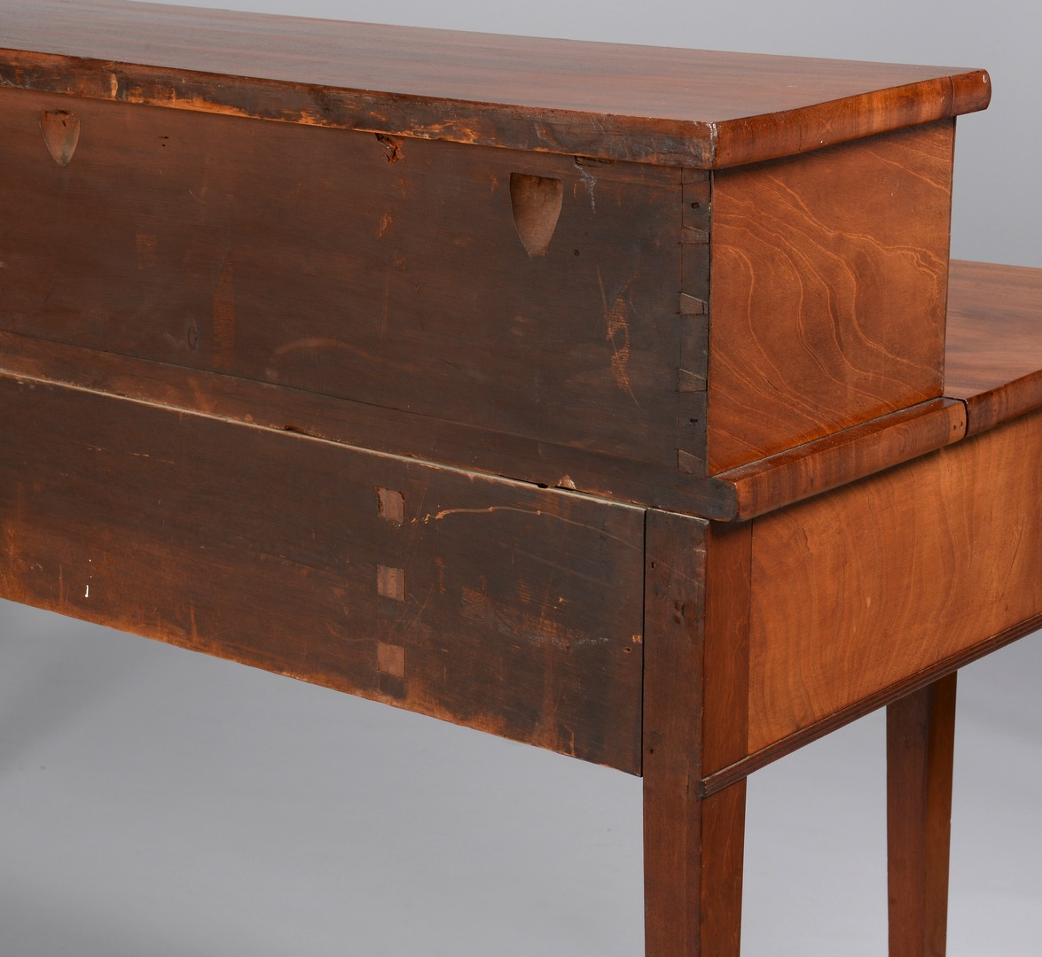 Lot 276: English Inlaid Sideboard with Tambour doors