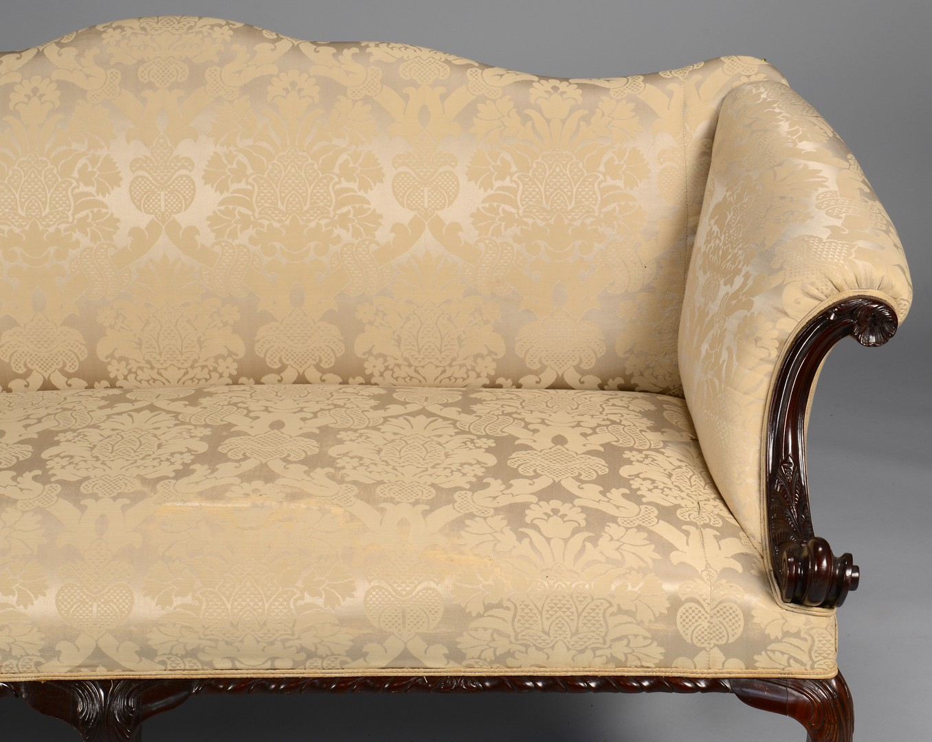 Lot 277: Centennial Irish Chippendale Sofa