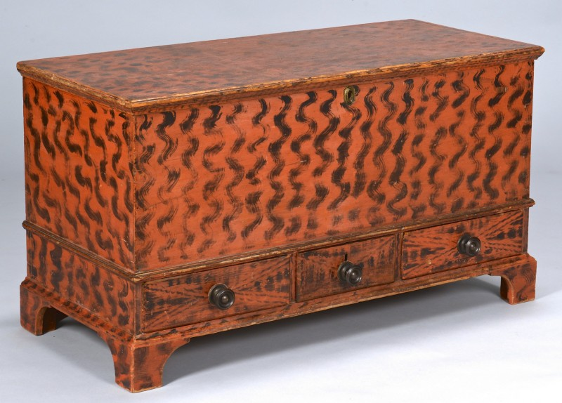 Lot 280: American Smoke Decorated Blanket Chest