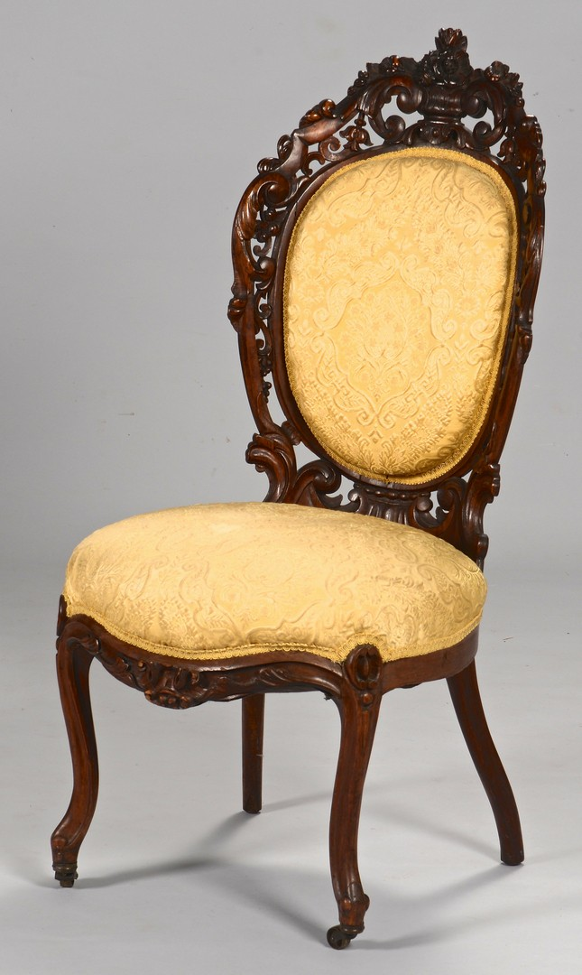 Lot 281: 2 Victorian Laminated Rosewood Chairs