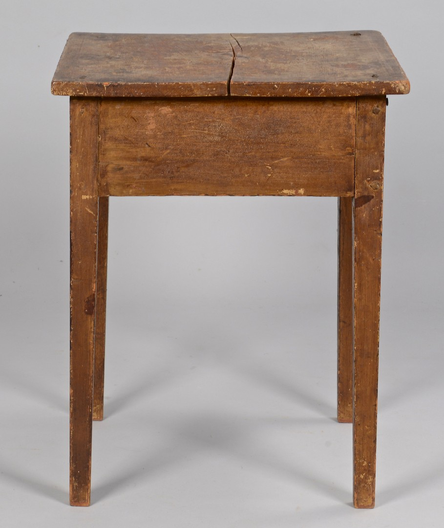 Lot 294: Folk Art Painted Table and Accessories, 5 pcs
