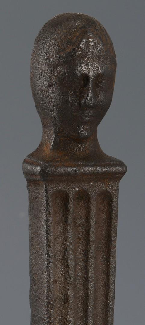 Lot 298: Pr. Figural Andirons, poss. Southern