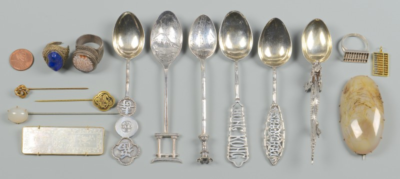 Lot 2: Group Asian Silver & Jewelry, 15 pcs.