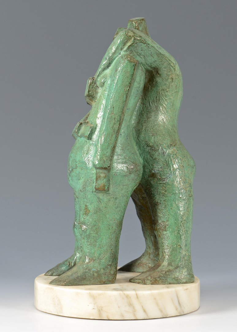 Lot 302: Heriberto Juarez Bronze Cubist Sculpture