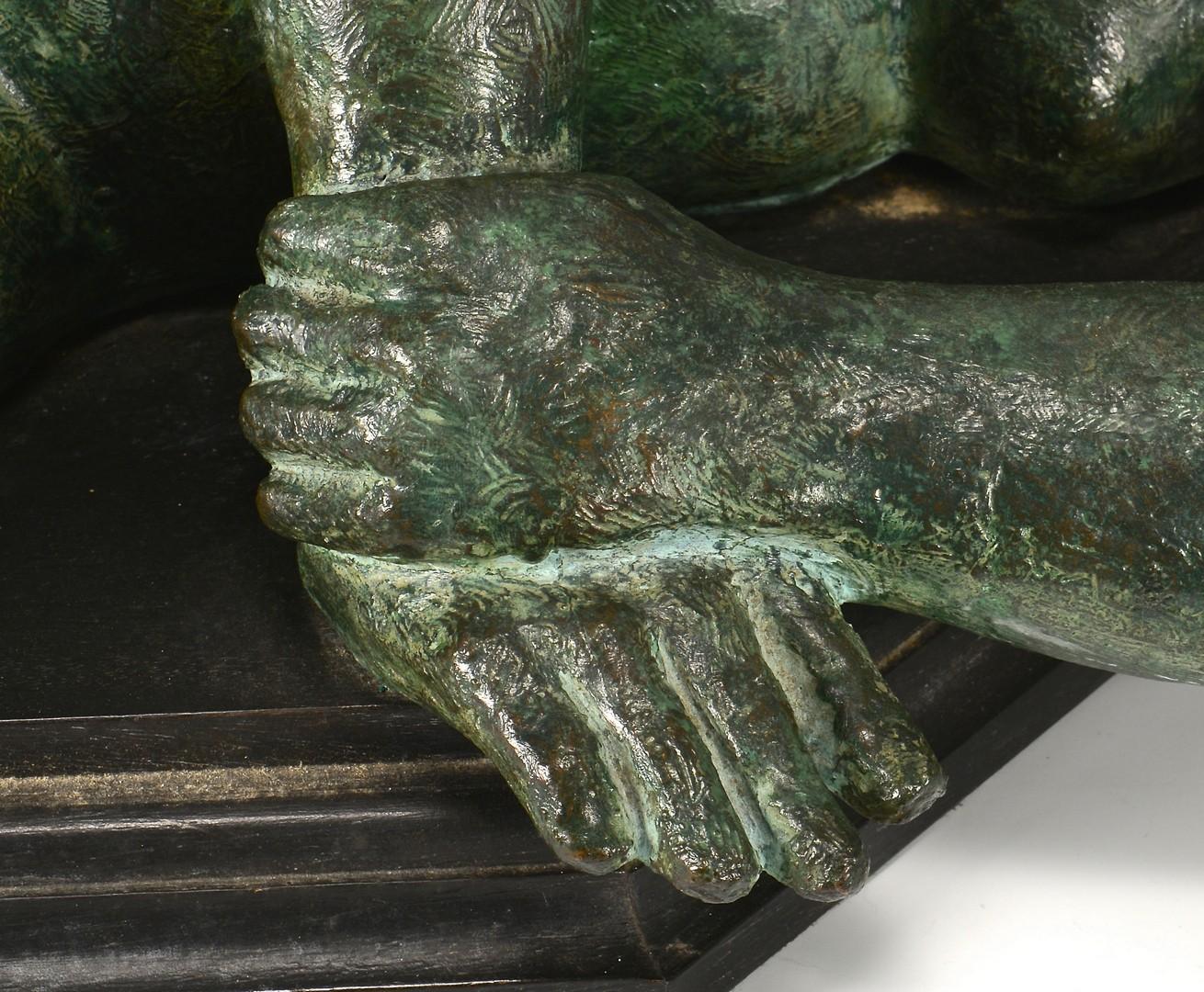 Lot 303: Jorge Cuevas large nude sculpture