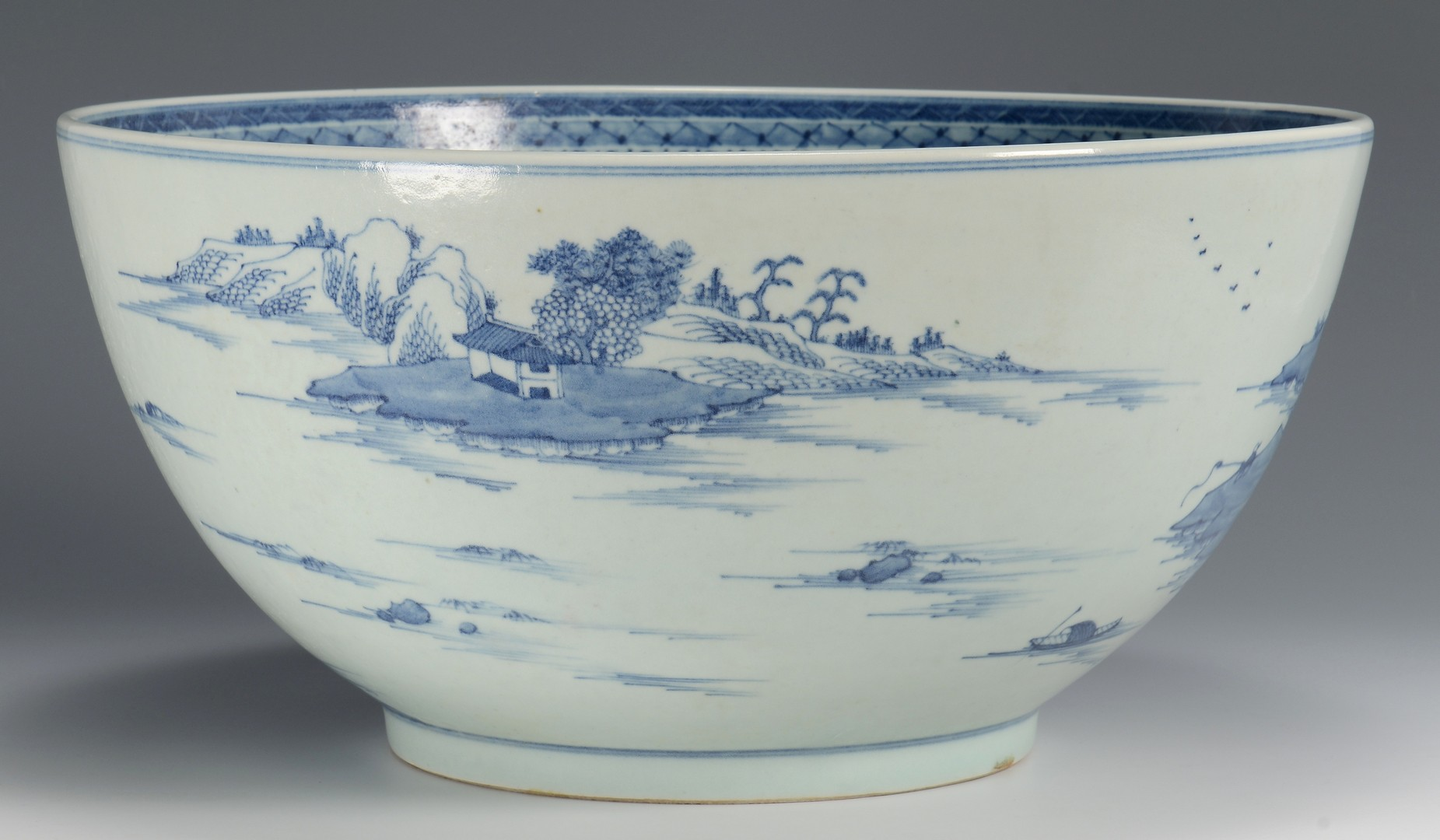 Lot 30: Large Chinese Export Porcelain Punch Bowl