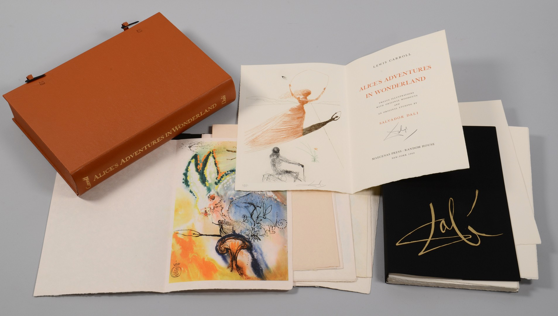 "Lot 313: Salvador Dali, 200 ed. ""Alice's Adventures in Wonderland"""