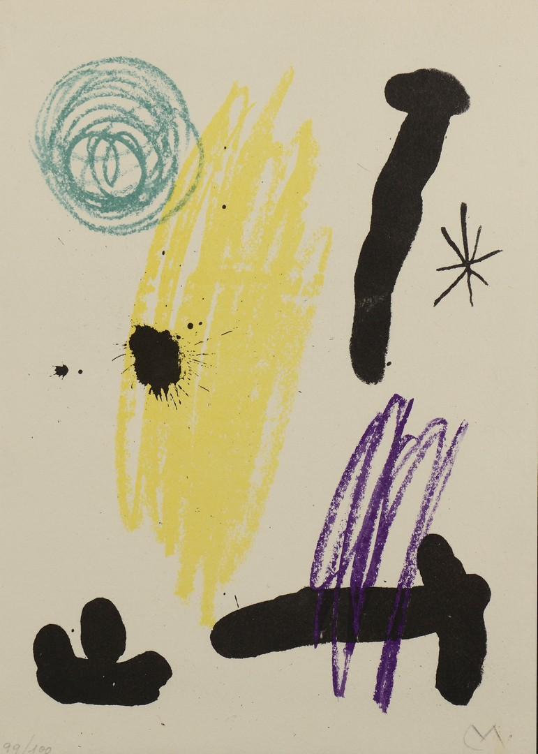 Lot 315: Joan Miro Lithograph VII, Obra Inedita