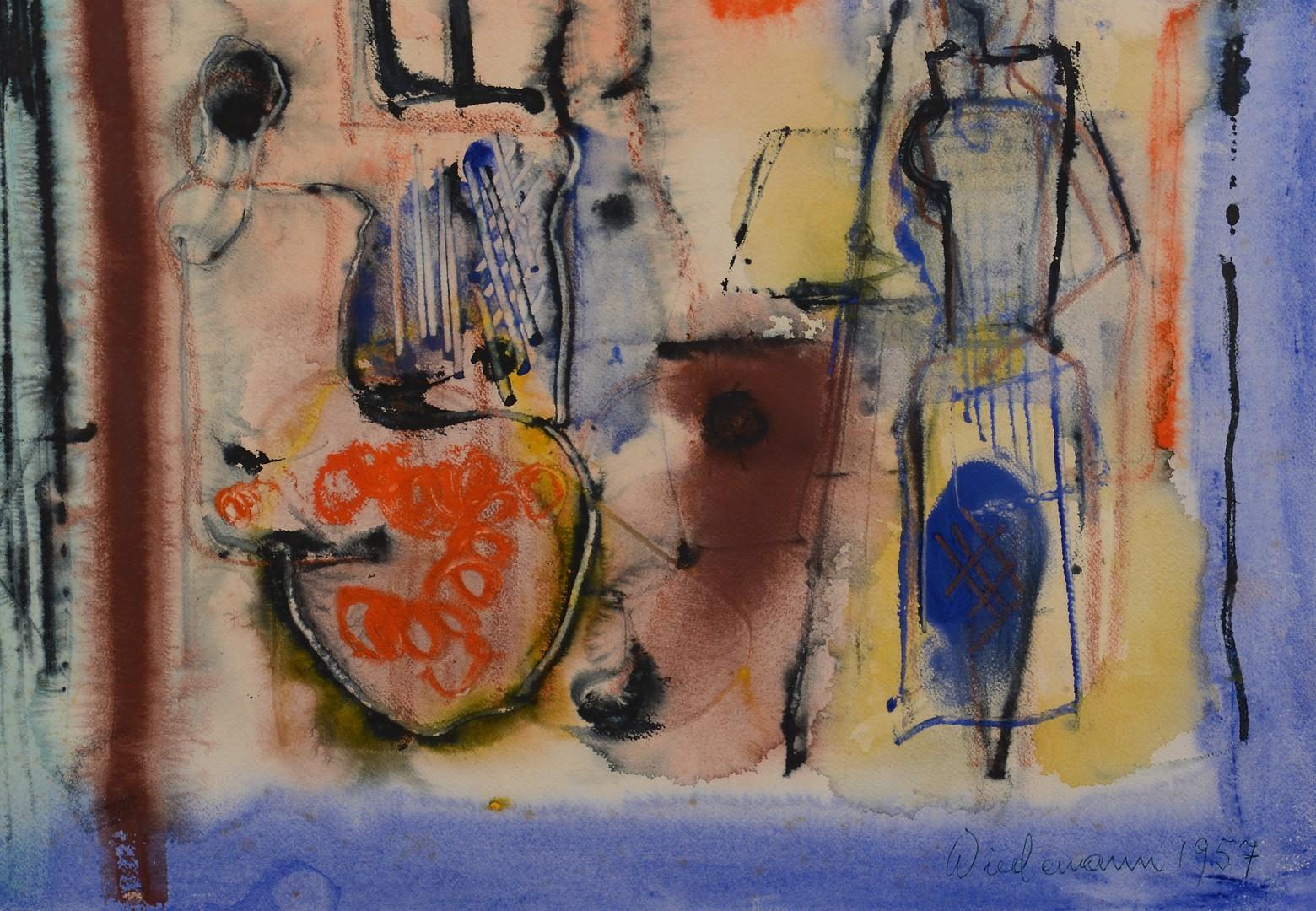 Lot 316: G. Wiedemann Abstract Watercolor