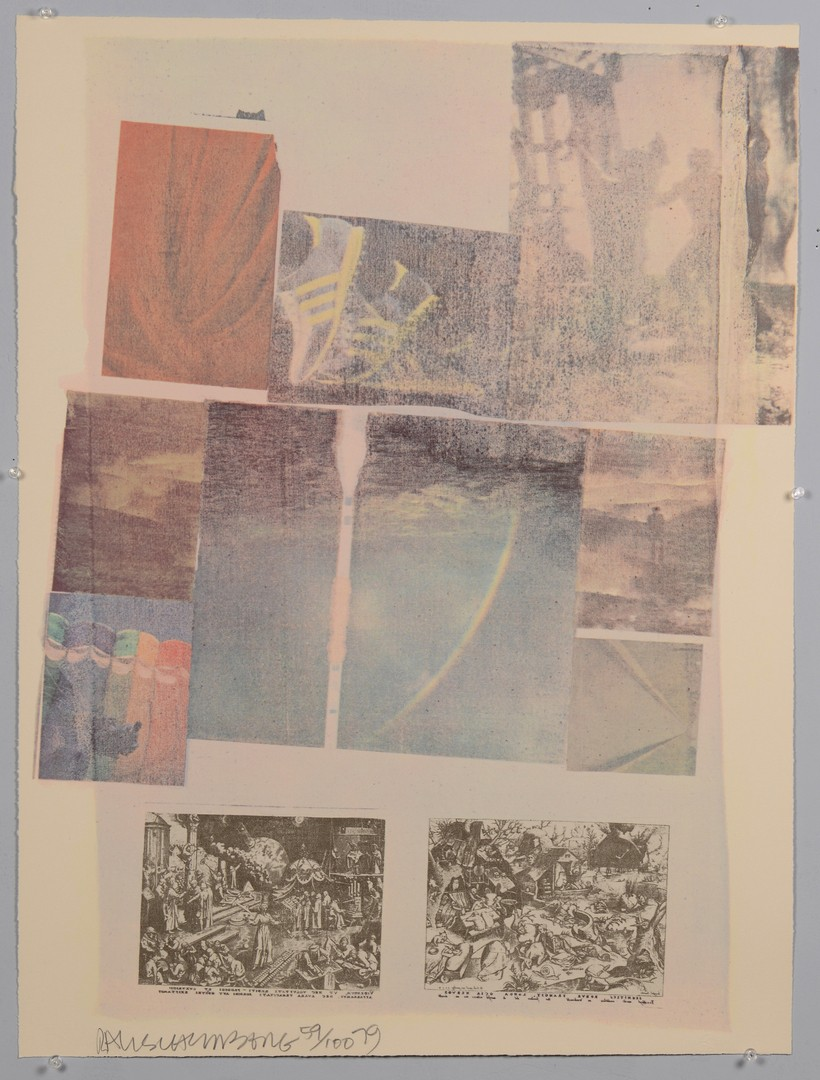 Lot 317: Rauschenberg Signed Litho, People Have Enough Trouble Without Being Intimidated by an Artichoke