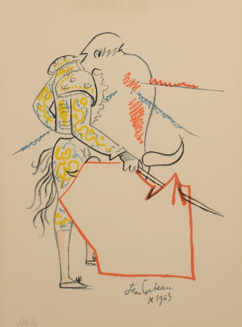 Lot 320: Jean Cocteau Lithograph, Matador