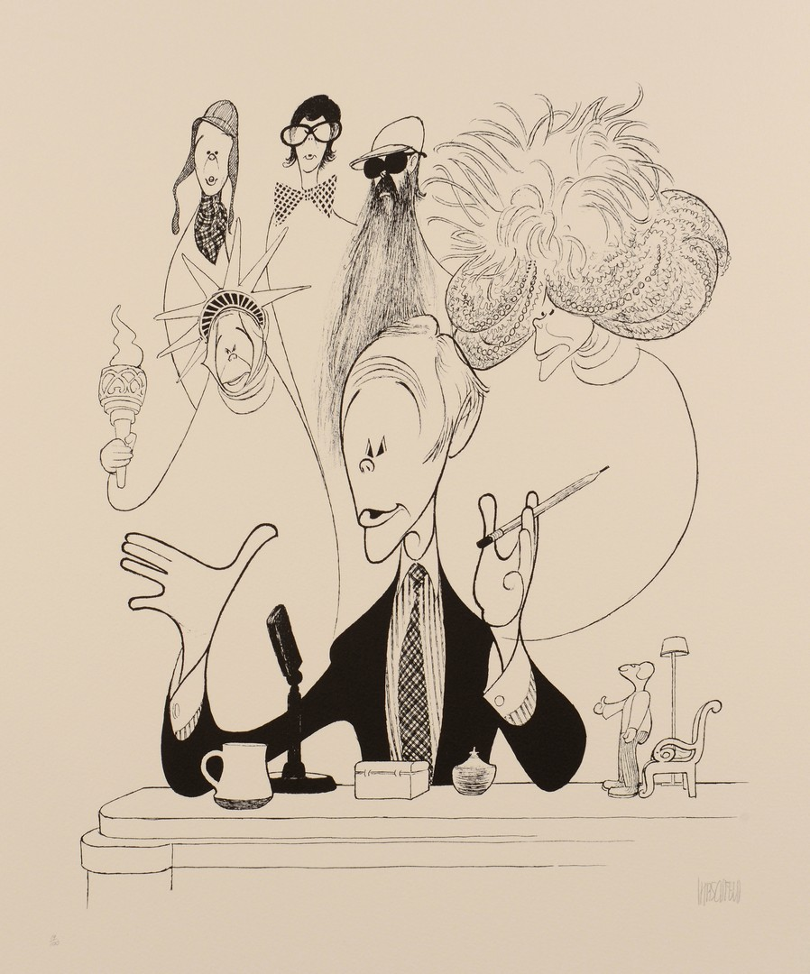 Lot 321: Signed Hirschfeld Lithograph, Johnny Carson