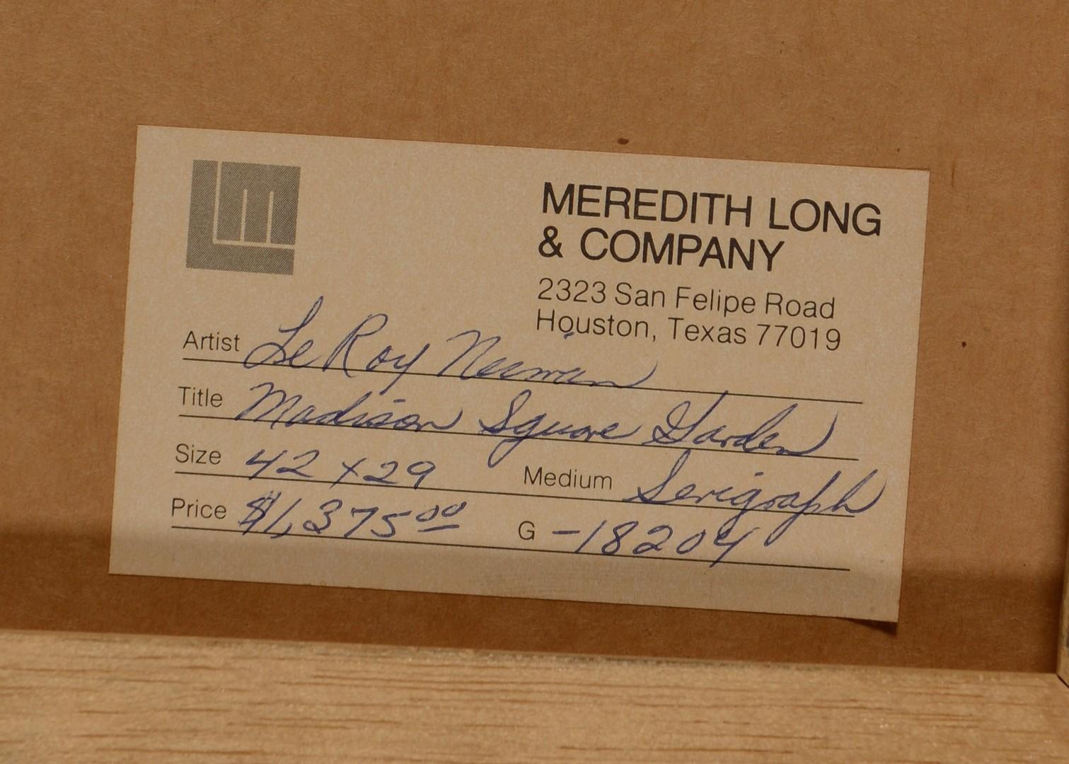 Lot 323: LeRoy Neiman Signed Serigraph, Champions