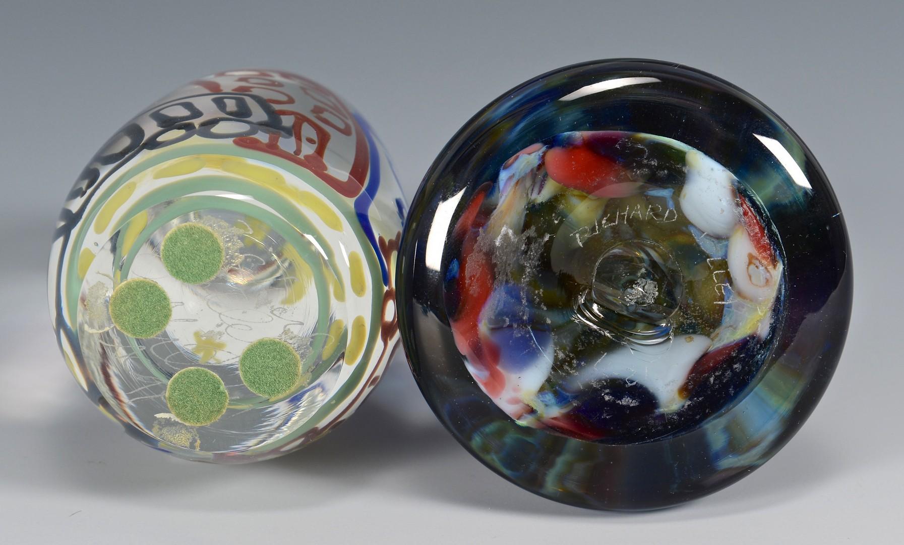 Lot 324: 4 Richard Jolley Art Glass items
