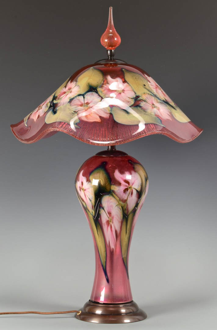Lot 329: Charles Lotton Art Glass Lamp