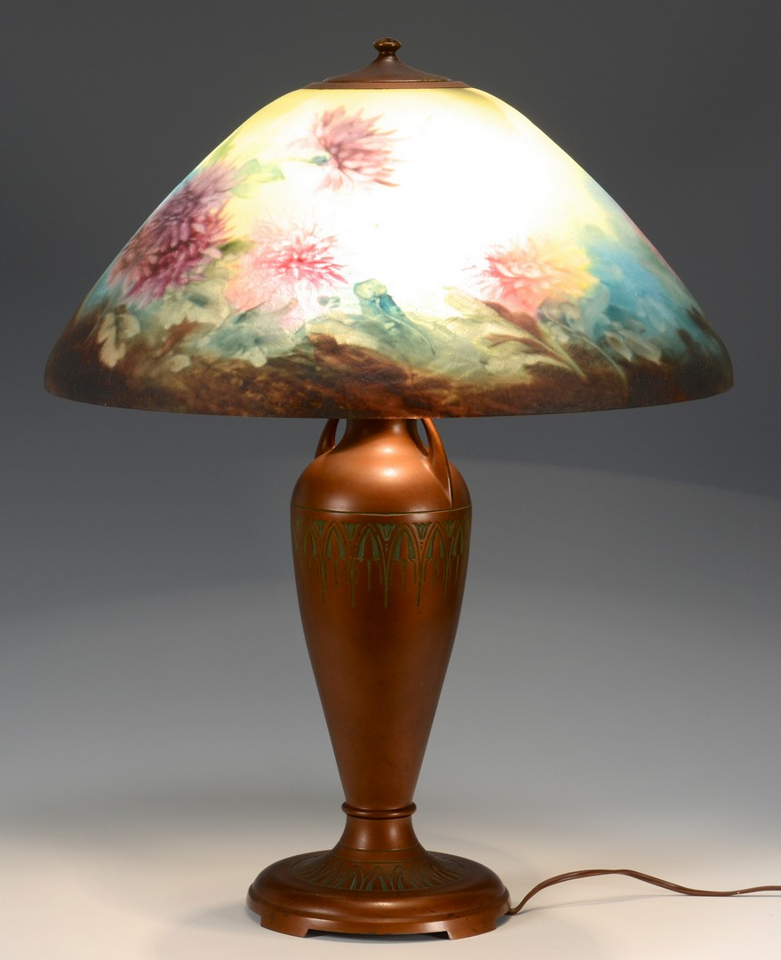 Lot 331: Moe Bridges Reverse Painted Table Lamp
