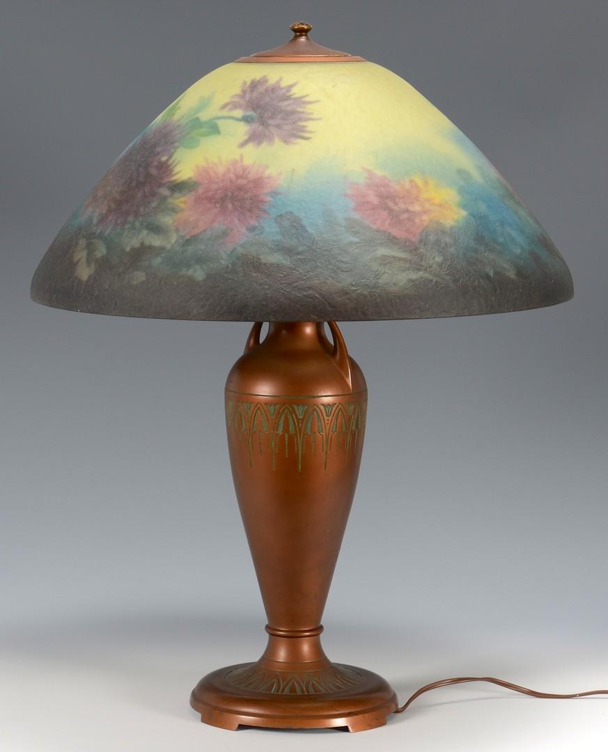 Lot 331: Moe Bridges Reverse Painted Table Lamp