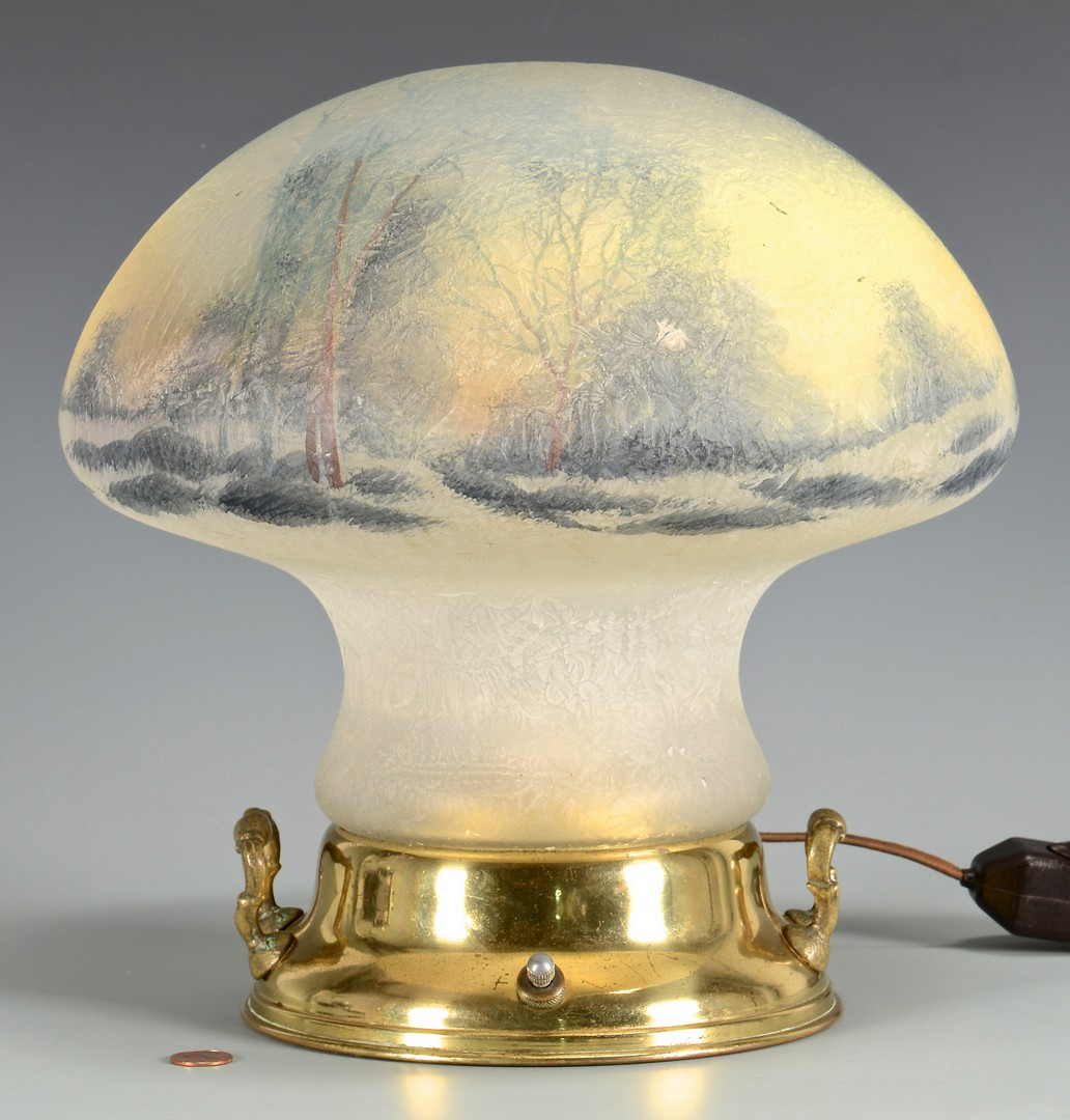 Lot 334: Pairpoint Mushroom Table Lamp