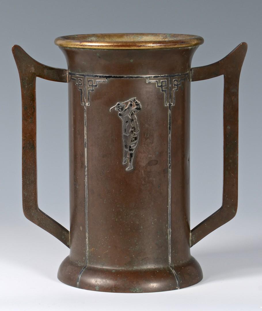 Lot 336: Limbert Rocker & Heintz Golf Trophy
