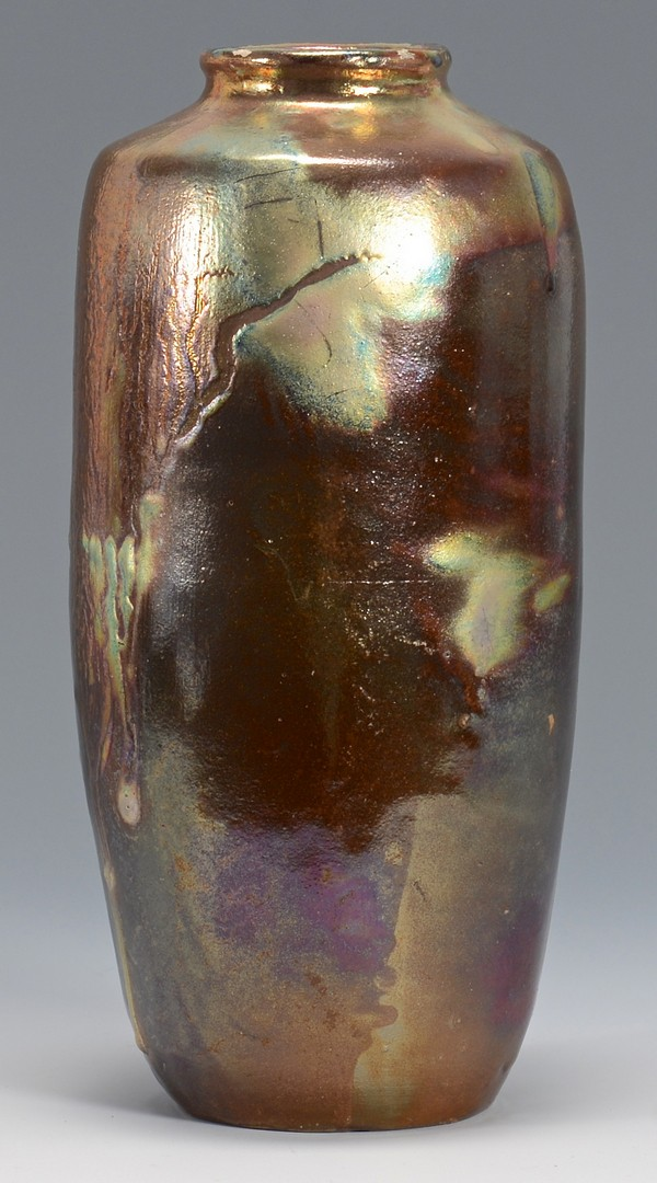 Lot 337 Art Pottery Iridescent Vase