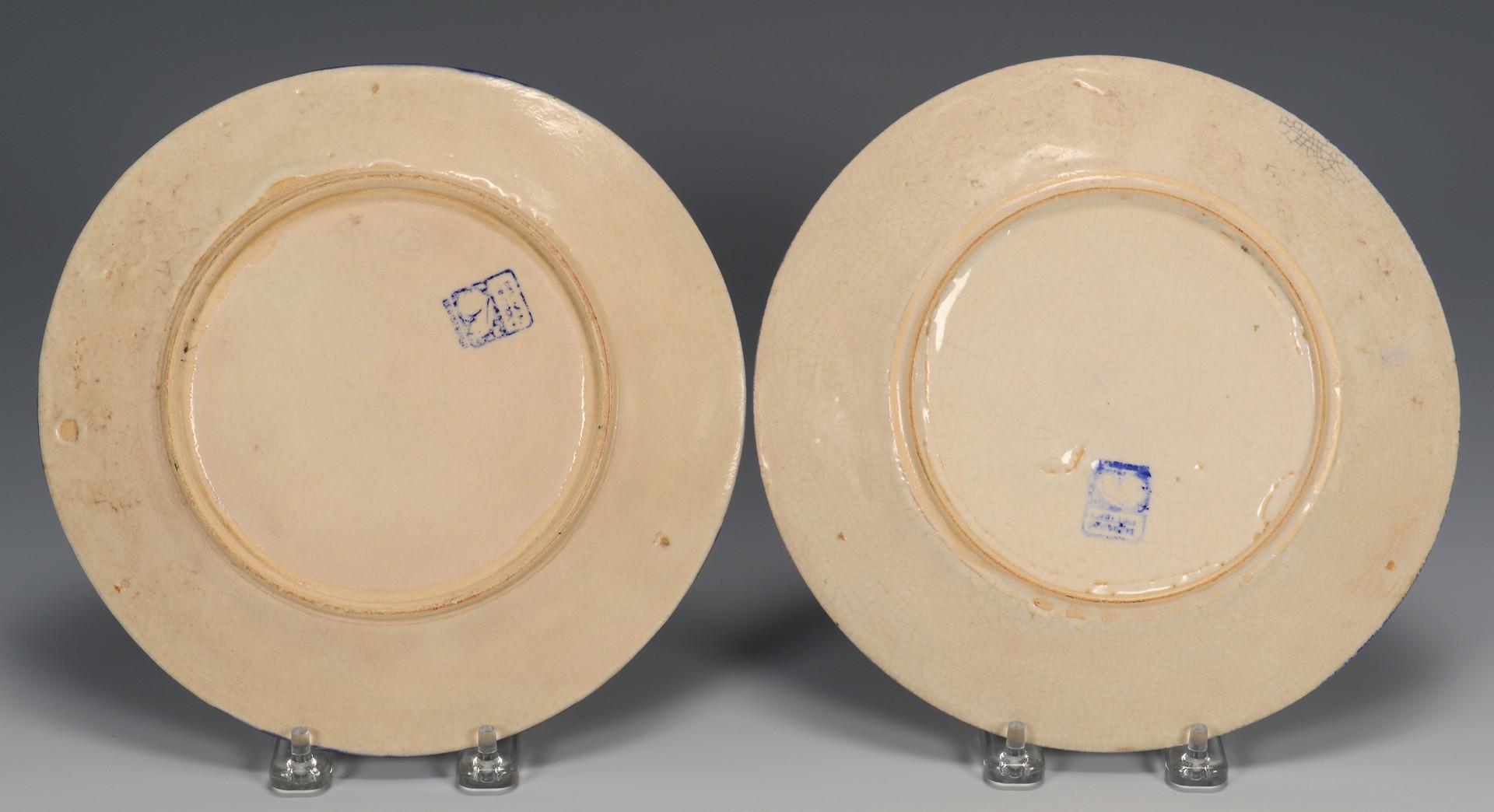 Lot 342: 3 Dedham Plates & 1 Delft Tile