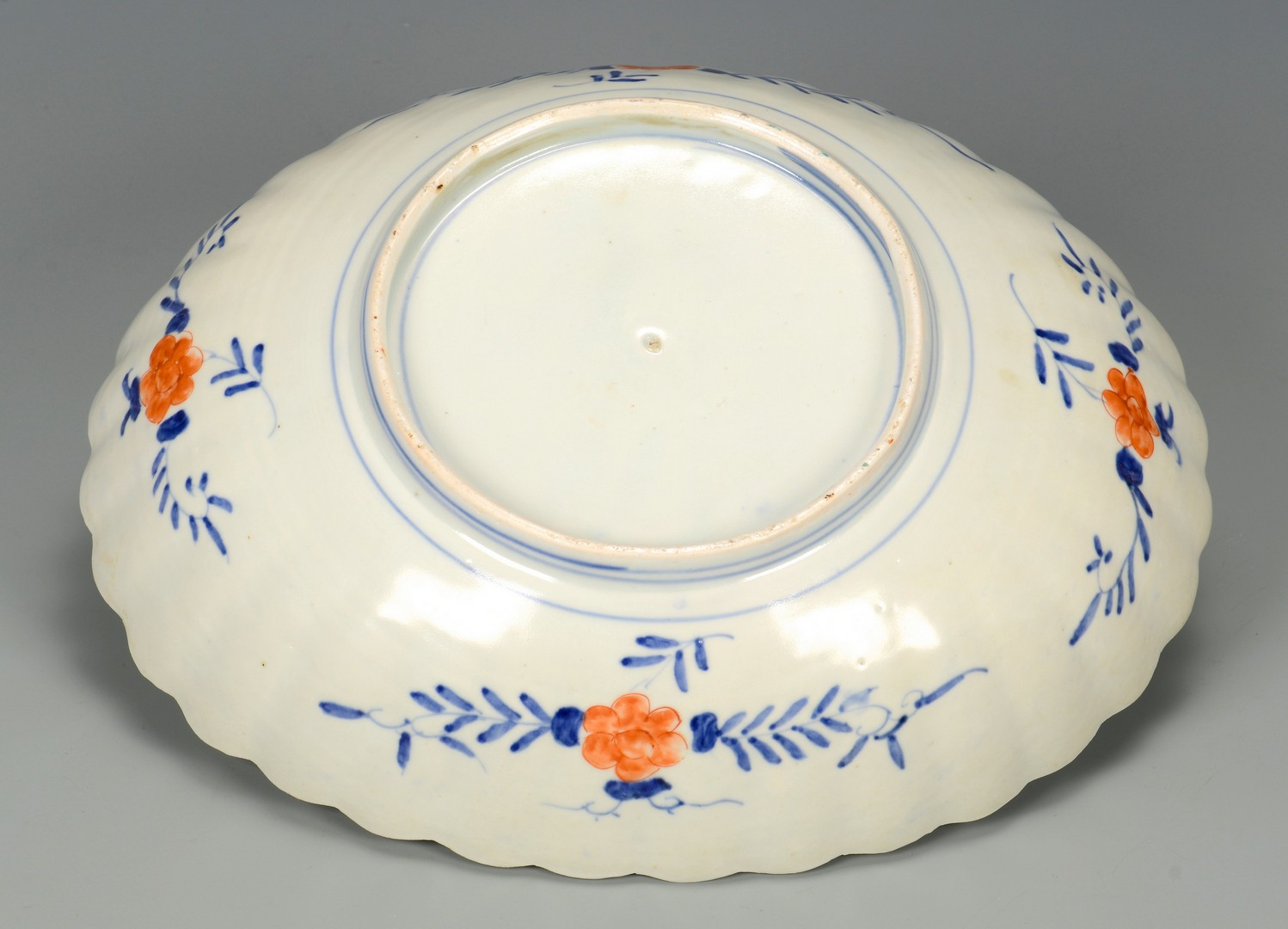 Lot 348: Imari large bowl and 2 vases