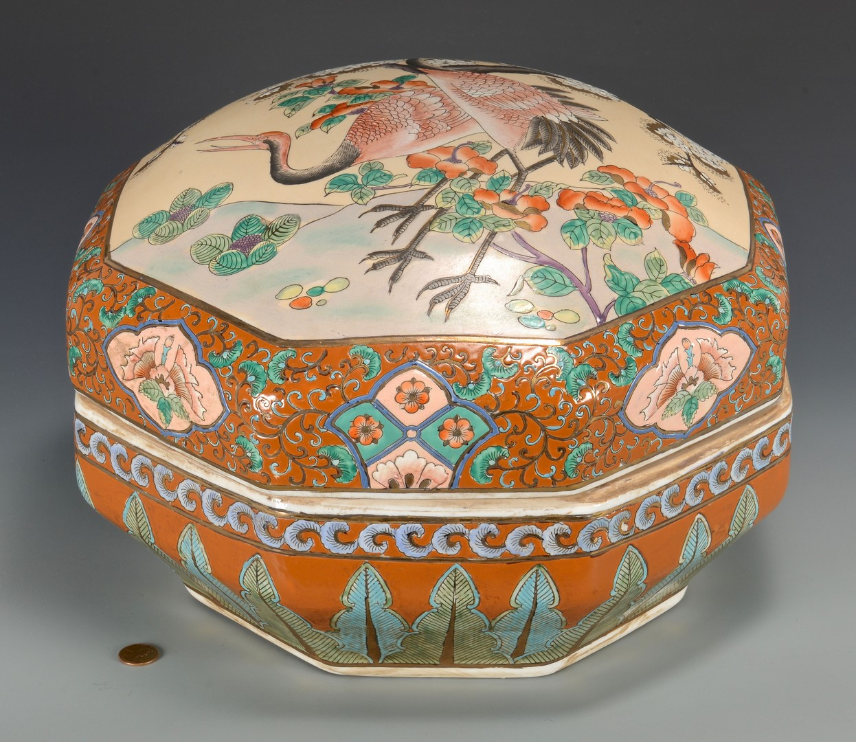 Lot 349: Large Chinese 8-sided Box