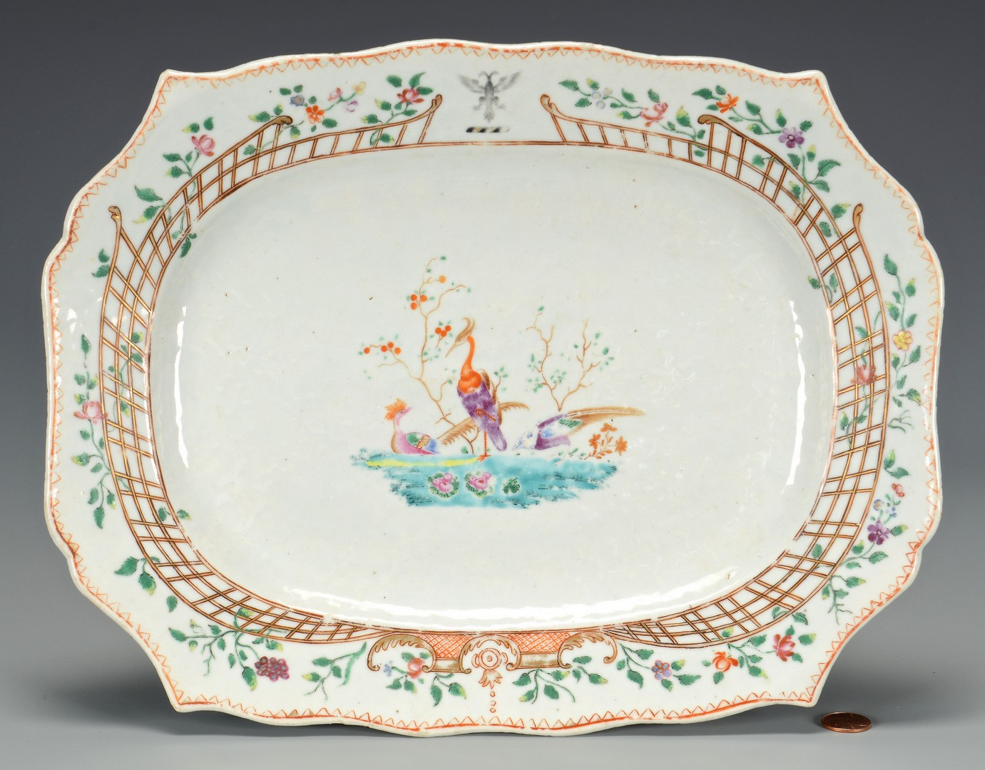 Lot 351: Chinese Export Armorial Platter