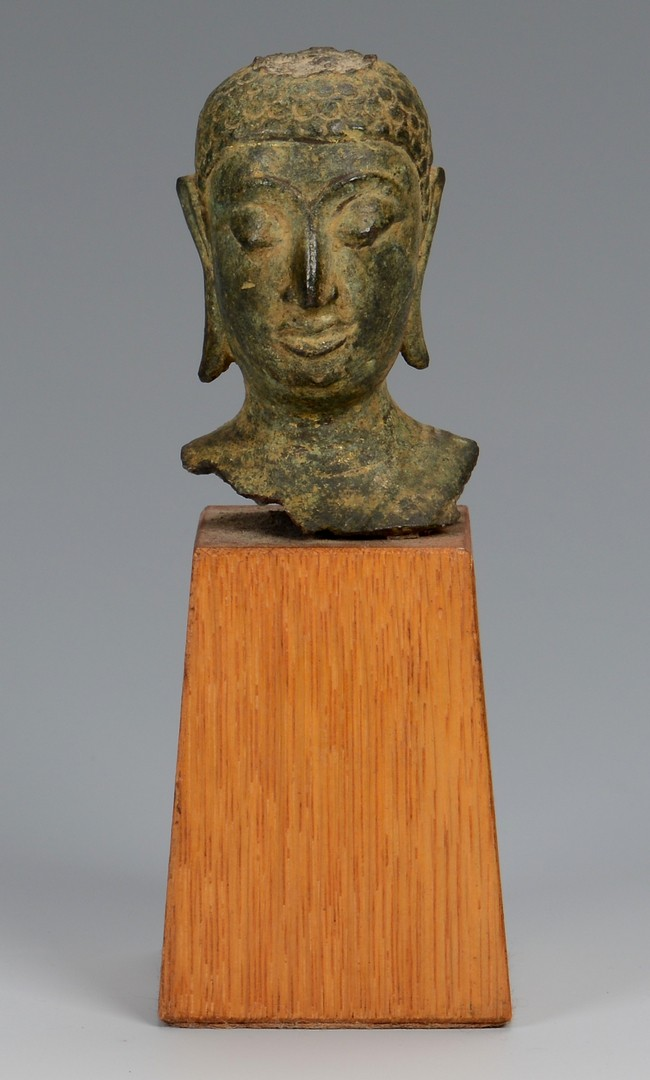 Lot 361: 3 Bronze Buddha Sculptural Items