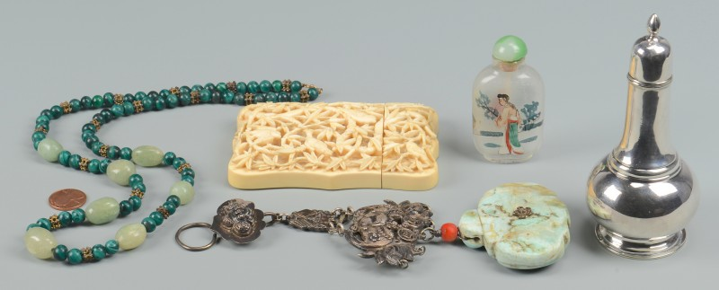 Lot 363: 5 Asian themed items, incl Ivory Case
