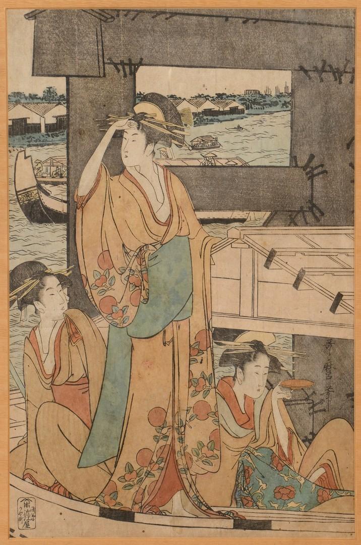 Lot 371: Japanese Woodblock Prints, Utamaro II