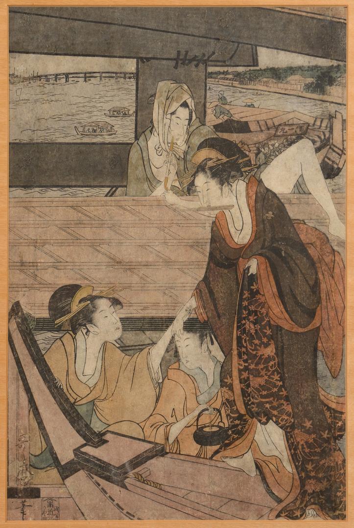 Lot 371 Japanese Woodblock Prints Utamaro Ii