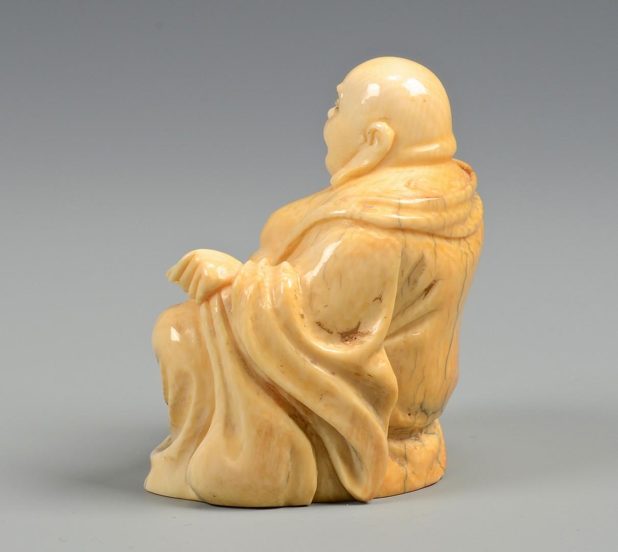 Lot 375: 2 Carved Ivory Figures