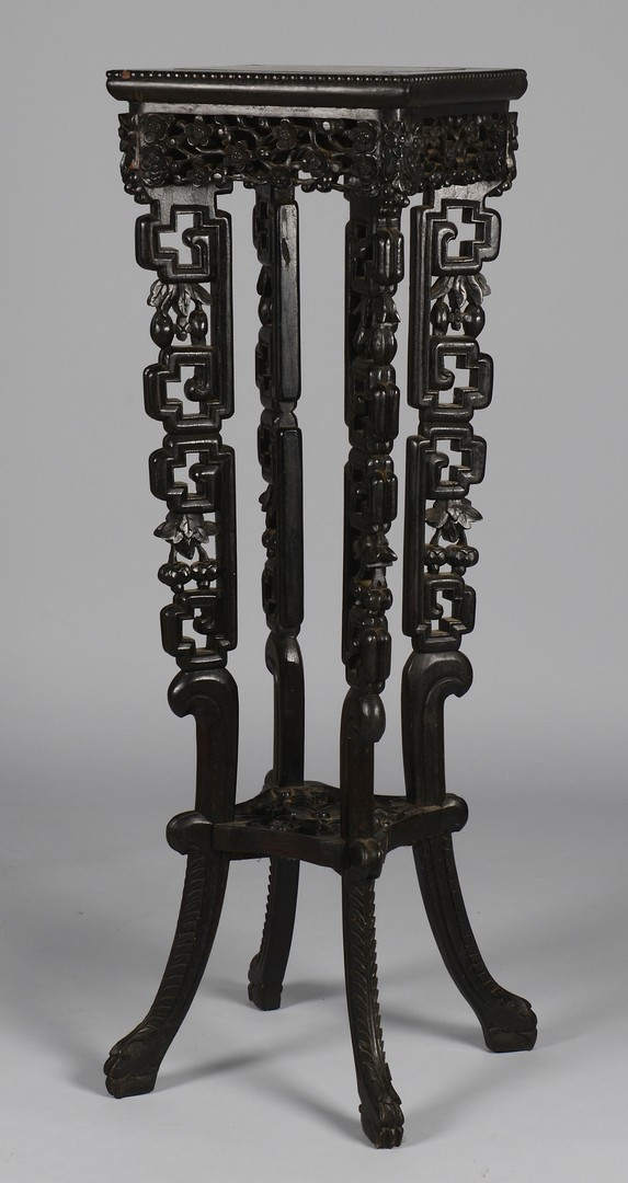 Lot 376: Square Carved Chinese Pedestal