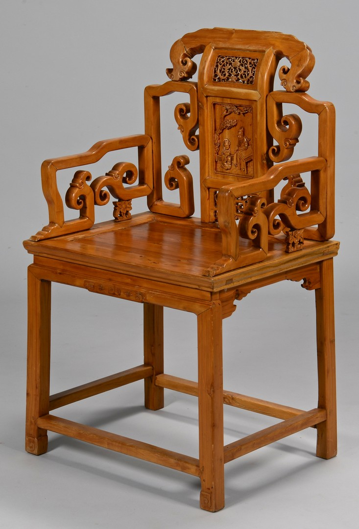 Lot 380: Chinese Hardwood Throne Chair
