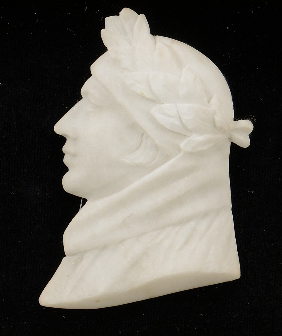 Lot 382: 3 historic small busts, incl Napoleon