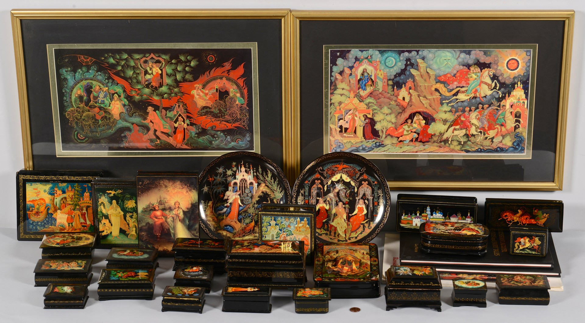 Lot 383: 23 Russian Lacquer Boxes