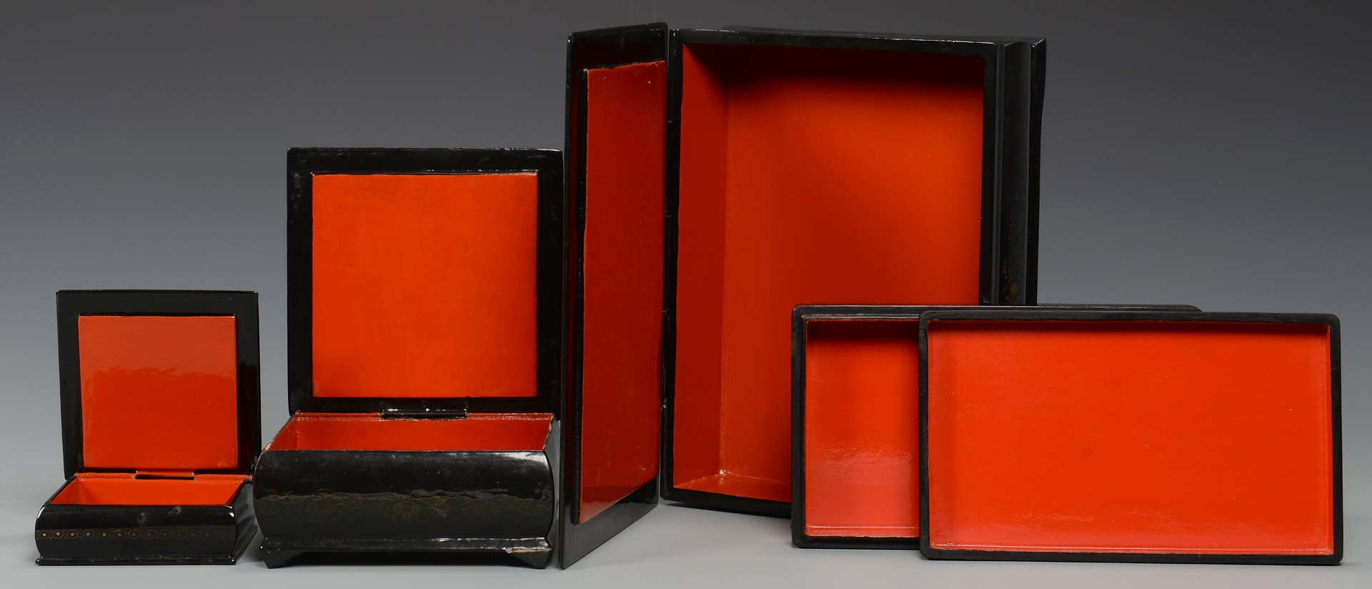 Lot 384: 4 Russian Lacquer Boxes