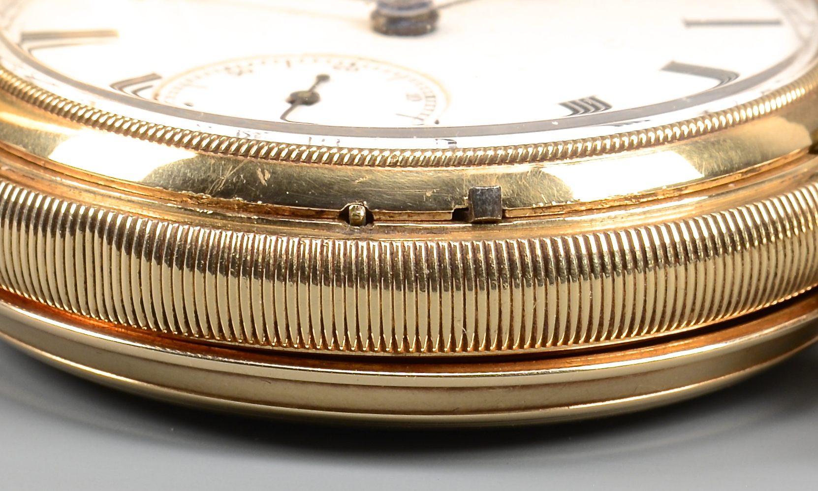 Lot 386: 14k Waltham Hunting Case Watch